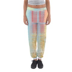Unique abstract in green, blue, orange, gold Women s Jogger Sweatpants
