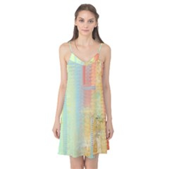 Unique Abstract In Green, Blue, Orange, Gold Camis Nightgown