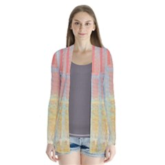 Unique Abstract In Green, Blue, Orange, Gold Cardigans