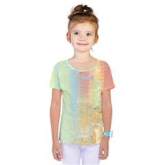 Unique Abstract In Green, Blue, Orange, Gold Kids  One Piece Tee