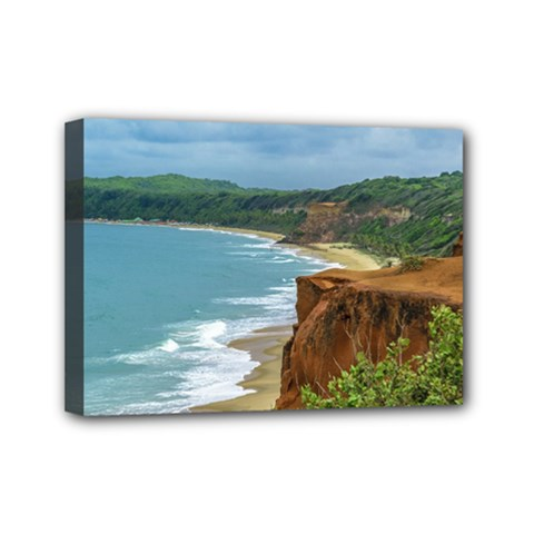 Aerial Seascape Scene Pipa Brazil Mini Canvas 7  x 5