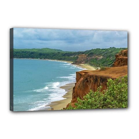 Aerial Seascape Scene Pipa Brazil Canvas 18  x 12