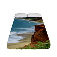 Aerial Seascape Scene Pipa Brazil Fitted Sheet (Full/ Double Size)