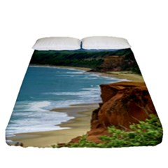 Aerial Seascape Scene Pipa Brazil Fitted Sheet (queen Size)