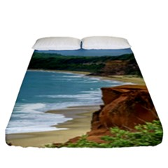 Aerial Seascape Scene Pipa Brazil Fitted Sheet (King Size)
