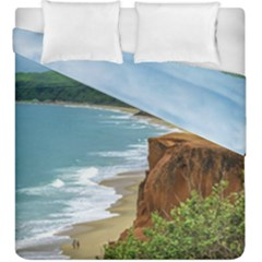 Aerial Seascape Scene Pipa Brazil Duvet Cover Double Side (King Size)