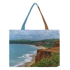 Aerial Seascape Scene Pipa Brazil Medium Tote Bag