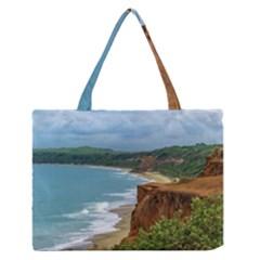 Aerial Seascape Scene Pipa Brazil Medium Zipper Tote Bag