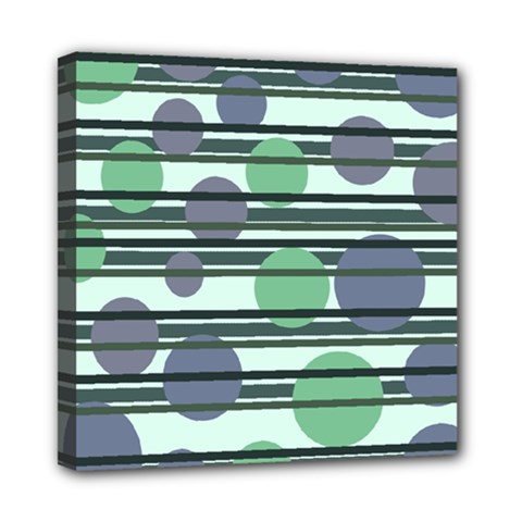 Green simple pattern Mini Canvas 8  x 8