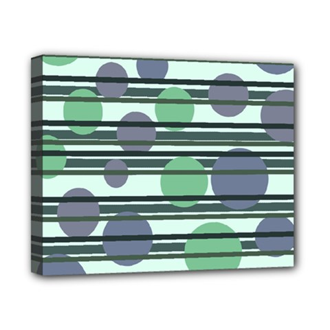 Green simple pattern Canvas 10  x 8