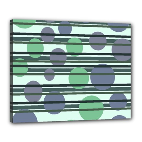 Green simple pattern Canvas 20  x 16