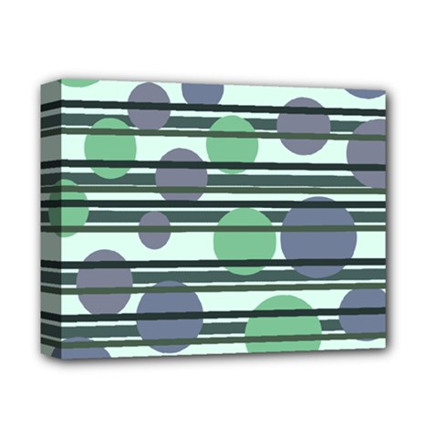 Green simple pattern Deluxe Canvas 14  x 11