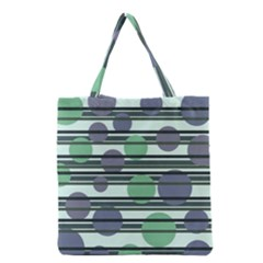 Green simple pattern Grocery Tote Bag
