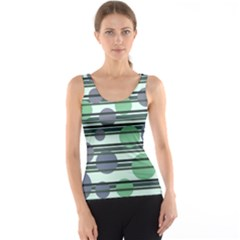 Green simple pattern Tank Top