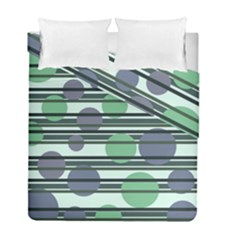 Green Simple Pattern Duvet Cover Double Side (full/ Double Size)