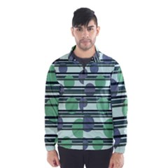 Green simple pattern Wind Breaker (Men)