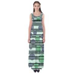 Green simple pattern Empire Waist Maxi Dress