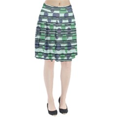 Green simple pattern Pleated Skirt