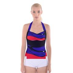 Cool obsession  Boyleg Halter Swimsuit