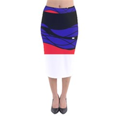 Cool obsession  Velvet Midi Pencil Skirt