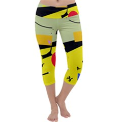 Party In The Desert  Capri Yoga Leggings