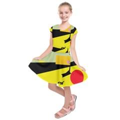 Party In The Desert  Kids  Short Sleeve Dress