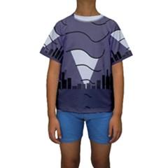 Tesla Kids  Short Sleeve Swimwear