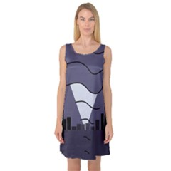 Tesla Sleeveless Satin Nightdress