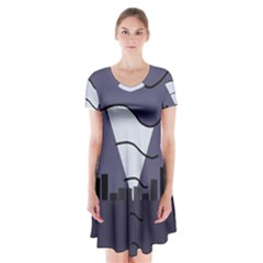 Tesla Short Sleeve V Neck Flare Dress