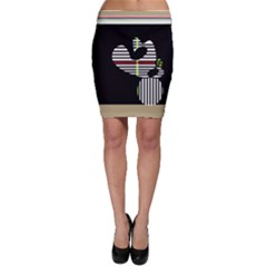 Abstract art Bodycon Skirt