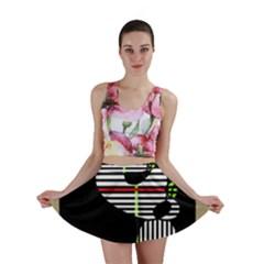 Abstract art Mini Skirt