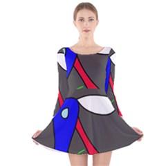 Donkey Long Sleeve Velvet Skater Dress