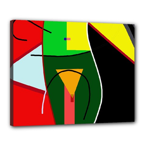 Abstract lady Canvas 20  x 16