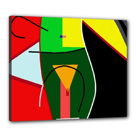 Abstract lady Canvas 24  x 20