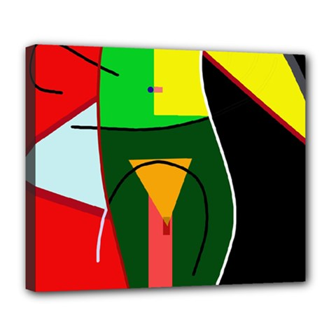 Abstract lady Deluxe Canvas 24  x 20