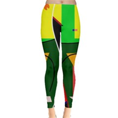 Abstract lady Leggings