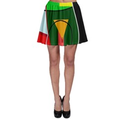 Abstract lady Skater Skirt