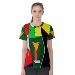 Abstract lady Women s Cotton Tee