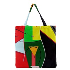 Abstract lady Grocery Tote Bag