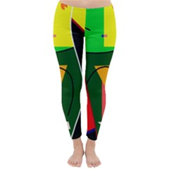 Abstract lady Classic Winter Leggings