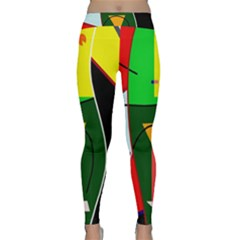 Abstract lady Classic Yoga Leggings