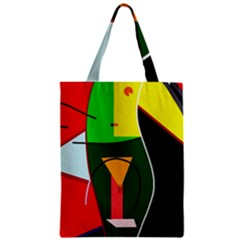 Abstract lady Zipper Classic Tote Bag
