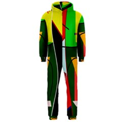 Abstract lady Hooded Jumpsuit (Men)