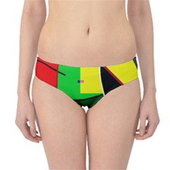 Abstract lady Hipster Bikini Bottoms