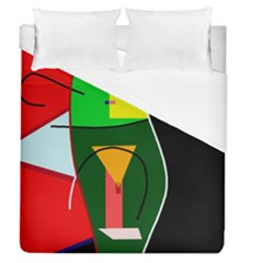 Abstract Lady Duvet Cover (queen Size)