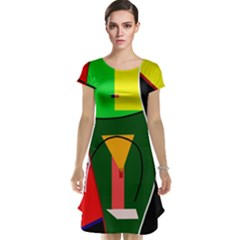 Abstract lady Cap Sleeve Nightdress