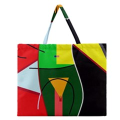 Abstract lady Zipper Large Tote Bag