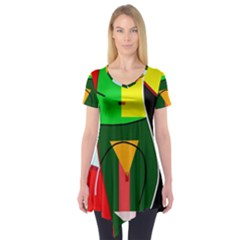 Abstract lady Short Sleeve Tunic