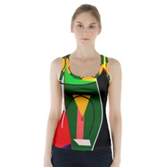 Abstract lady Racer Back Sports Top