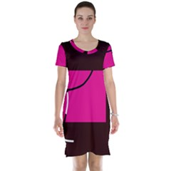 Pink square  Short Sleeve Nightdress
